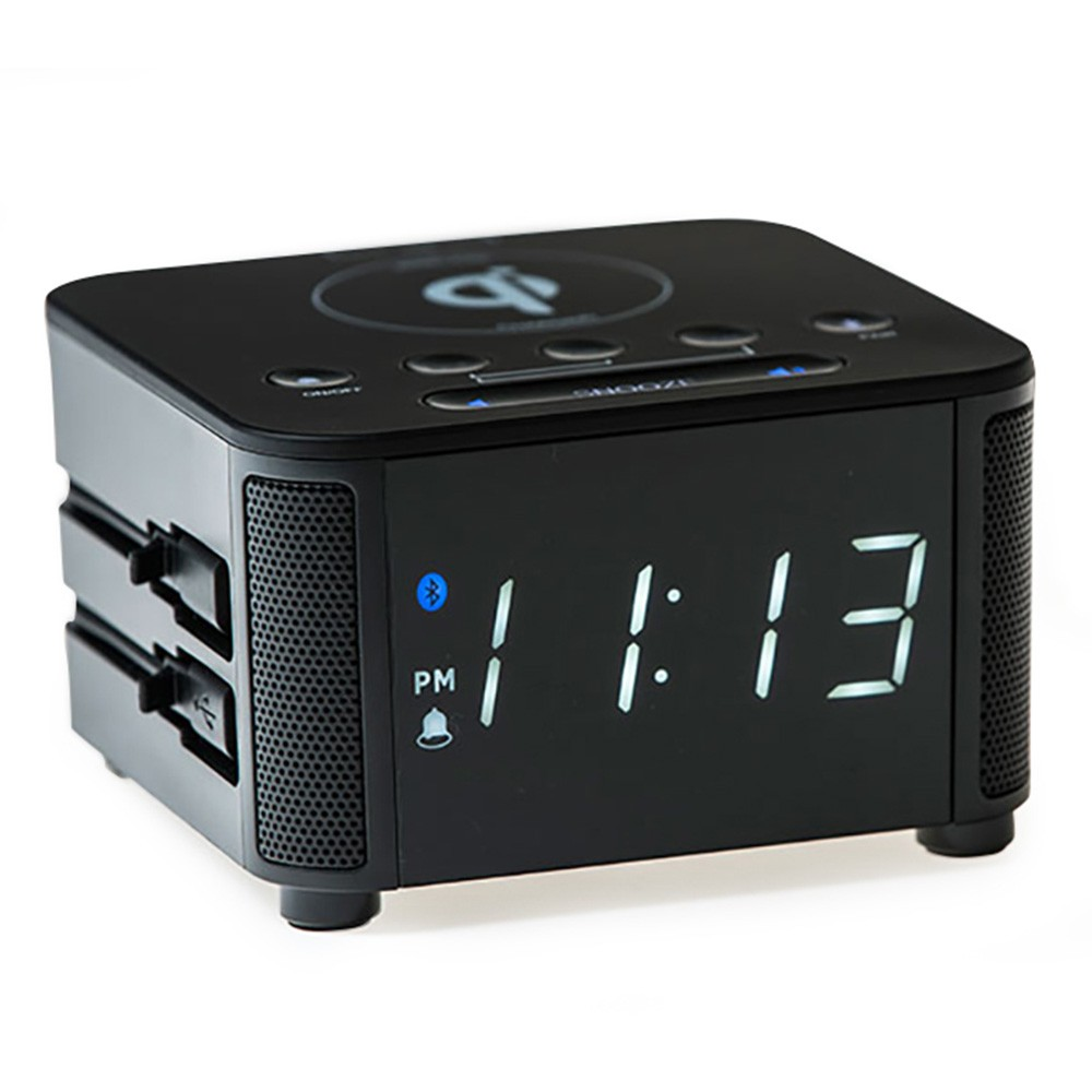 KUBE CLOCK - WIRELESS BLACK