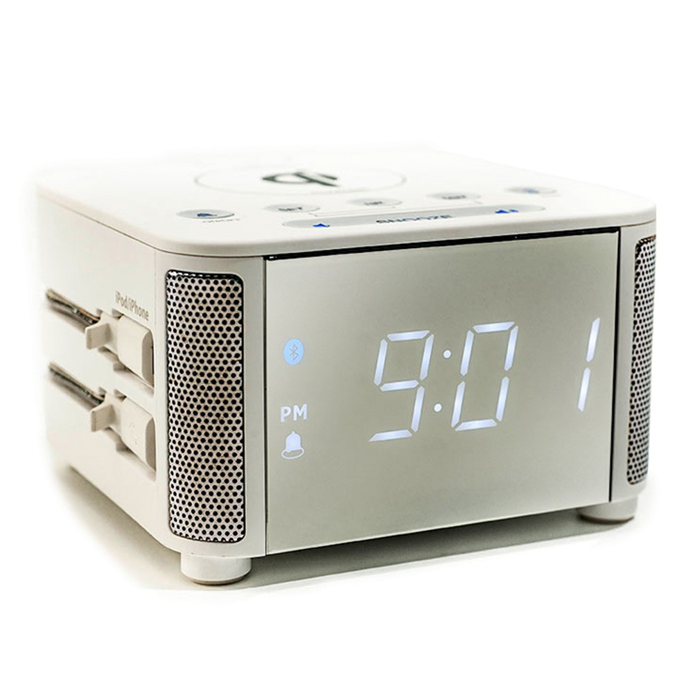 KUBE CLOCK - WIRELESS WHITE