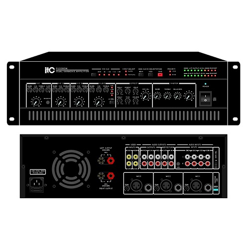 Stereo KARAOKE Amplifier With DSP Effector T-2080K T-2120K T-2240K