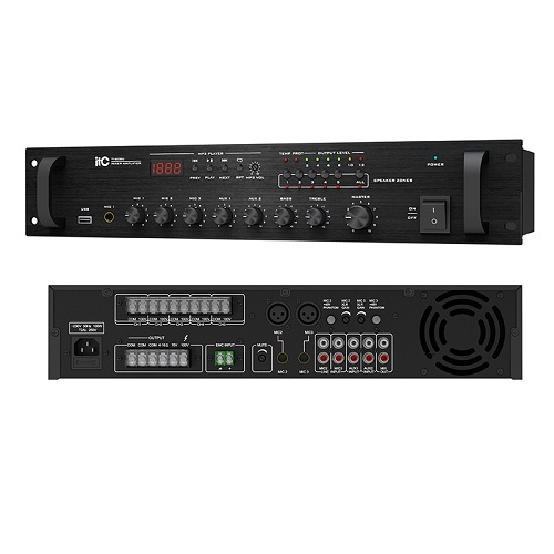5 Zone USB Mixer Amplifier (XLR Mic Input with Phantom Power) TI-60BU TI-120BU TI-240BU