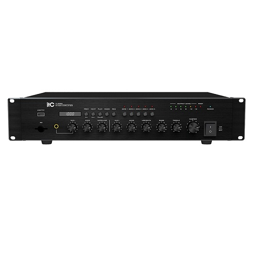 5 Zone Amplifier with Mic Input and USB Port TI-60SC TI-120SC TI-240SC